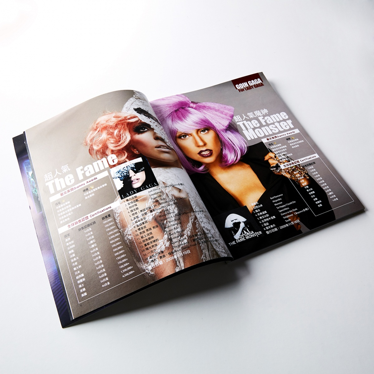 Lady Gaga cover story layout design on fashion category magazine public in Taiwan in 2011 June